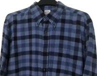 Brooks Brothers REGENT Men's XL Plaid Flannel Button Down Long Sleeve Shirt Blue