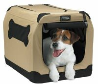 Portable Dog Crate Soft Travel Kennel Carrier Pet Cage 24-Inch Medium NEW