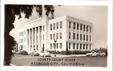 RPPC  REDWOOD CITY, CA California    County COURTHOUSE    c1940s   Postcard