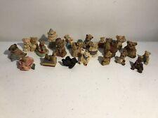 Lot Of 21 Itty Bitty World Teddy Bear Resin Minature Figurines