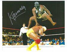 """Kamala """"The Ugandan Giant"""" signed wrestling photo w/Coa *Bonus* Hulk Hogan"""