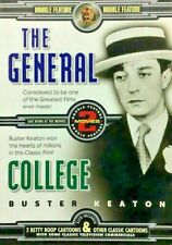 The General / College (Dvd, 2001) Double Feature With Cartoons Classics