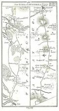 Antique map, Roads from Birr to Loughrea, Philipstown to Naas & the Curragh (1)