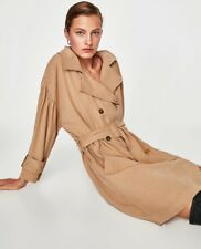 Zara Camel Soft Oversized Trench Coat Dress With Belt XS