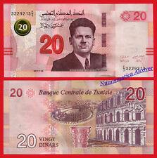 TUNEZ TUNISIA 20 Dinars dinares 2017 (2018) Pick NEW  SC / UNC