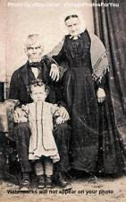 Vintage/Antique/Old 1890 Scary/Weird/Strange/Odd Halloween Family Photo/Picture