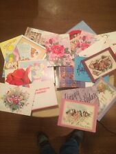 Vintage Lot Of 21Old Happy Birthday And Greeting Cards