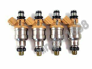 Fit d Escort Kia Sephia Mercury 1.8L Set Of 4 Fuel Injectors For Mazda Miata Nwe
