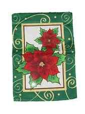 """12x18 12""""x18"""" Merry Christmas Holiday Poinsettia Flag Car Boat Garden"""