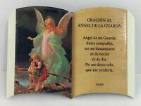 Oracion Al  Angel de la Guarda Para pared o Mesa New 6x4 Pulgadas