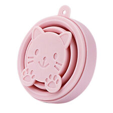 Portable Silicone Cartoon Cat Telescopic Drinking Collapsible Folding Cup T I2Q5