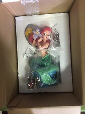 "Disney Little Mermaid Ariel Medium Musical Figure 11"" Sculpture Big Statue NIB"