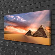 Tulup Canvas print Wall art on 100x50 Image Picture Desert Pyramids Architecture