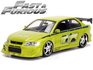 """Fast & Furious"" Brian's Mitsubishi Lancer 1:24 Scale - Jada Diecast Model Car ("