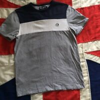 MENS FRED PERRY SPORTSWEAR GREY T SHIRT SMALL