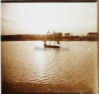 Egitto Bord Nilo Foto Stereo PL59L7n6 Placca Da Lente Vintage