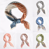 Wholesale Pleat Small Square Scarf Head Neck Decor Silk Satin Print Handkerchief