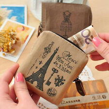 Popular Lady Vintage Retro Lovely Canvas Coin Bag Wallet Card Case Purse Bags