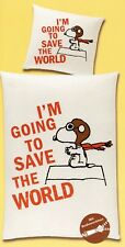Peanuts Bettwäsche Snoopy - I´m going to save the world - 135 x 200 cm Baumwolle