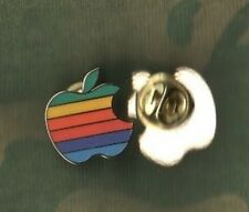 "COLLECTORS VANTAGE APPLE COMPUTER RAINBOW COLOR LOGO PIN 3/4"" in GOOD CONDITION"
