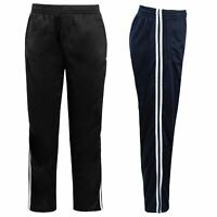 Mens Tracksuit Bottoms Joggers Jogging Striped Gym Sports Silky Pants Trousers