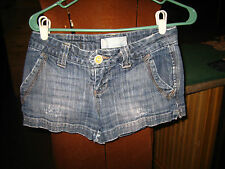 MAURICES DISTRESSED JEAN SHORTS~SIZE 1/2~4 POCKET~VERY CUTE