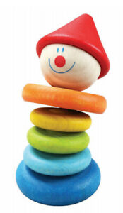 Clown Rattle by Classic World | Kids Baby Childrens First Rattle Wooden NEW