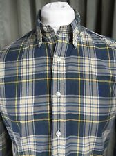 """Polo by Ralph Lauren Custom Fit Green Check Plaid Shirt - M 15.5"""" EXCELLENT COND"""