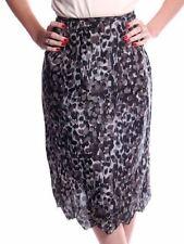 Vintage Black Gray Printed Silk Slip Laros 1950S 23 Waist Pencil Skirt S