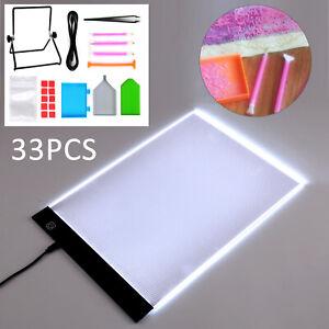 33pcs LED Pad Light Board Stand Holder 5D Diamond Embroidery Painting Kit Tools