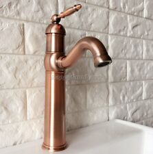 Antique Red Copper Brass Bathroom Basin Kitchen Sink Swivel Faucet Tap ynf388