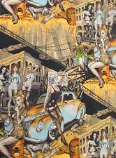 SKULLDUGGERY ZOMBIE APOCALYPSE BRIGHT BY ALEXANDER HENRY COTTON FABRIC BY YARD
