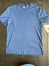 Mens 32° Cool Blue Short Sleeve Athletic DryFit Shirt, Large, New With Tags