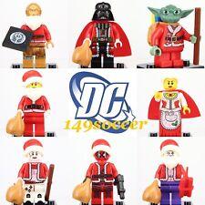 2020 Christmas 8PCS Set Mini Figures  Grinch Santa Christmas Minifigure fit Lego