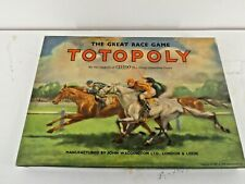 Vintage Totopoly The Great Race Game Board Game John Waddington Complete  (A15)