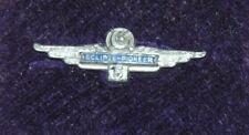 L@@K VINTAGE ENAMELED STERLING SILVER ECLIPSE PIONEER WINGS 5 YR SCREW BACK PIN