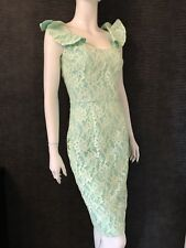 New With Tags - Hybrid Green Lace Pencil Dress Uk 10 Paid £130