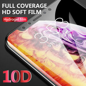 10D 360°Coverage Soft Hydrogel Film Violet Screen Protector For iPhone XS X 8 7