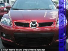 GTG 2007 - 2009 Mazda CX7 2PC Gloss Black Upper Overlay Billet Grille Grill Kit