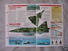Aircraft of the World Card 134 , Group 5 - Saab AJ/SF/SH Viggen