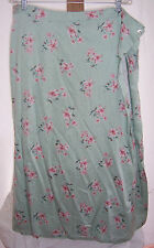 NWT Crazy Horse Green Floral Print Long Skirt  Misses Size 22W