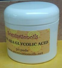 AHA GLYCOLIC ACID 15% CHEMICAL PEEL PADS WRINKLES ACNES BLACKHEADS SKIN FACE