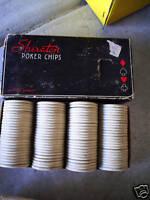 Vintage Box of Plastic Poker Chips Sheraton 100 pc LOOK