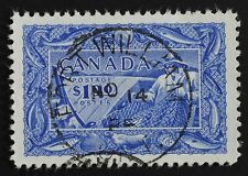#302 Fisheries $1 Used XF  S.O.T.N postmark: Fort William Ont NO 14 1952. GEM