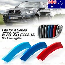 M-Power 7 BARS Kidney Grille 3 Color Cover Insert Clips fits BMW X5 E70 2008-13