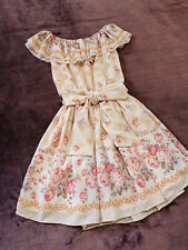 LIZ LISA Dress Japan-M Yellow Beige Pink Rose Diamond Gingham Hime&Lolita 109