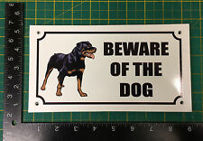Beware of the Dog Sign Plastic Pre-drilled
