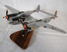 Vintage Lockheed P-38 USAAF Putt Putt Maru Desktop Display Wood Model Airplane