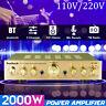 Sunbuck 338BT 2000W 110V-220V 5Ch bluetooth Power Amplifier HIFI Stereo AMP  *