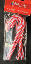 6 X Plastic Christmas Candy Canes 13cm Decorations Arts & Crafts by Premier